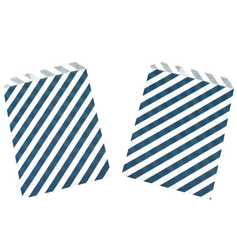 Diagonal Striped Patterned Treat Bags, 7-1/4-Inch, 8-Count