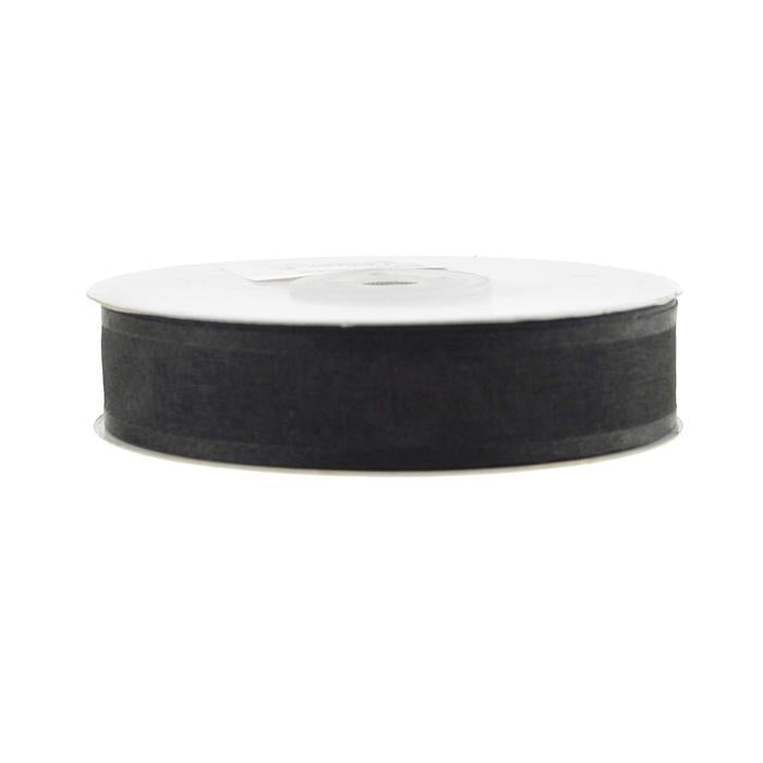 Satin-edge Sheer Organza Ribbon, 7/8-Inch, 25 Yards, Black
