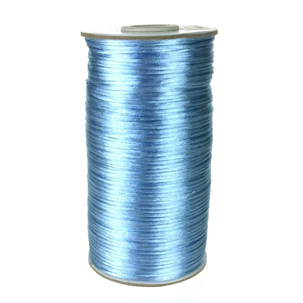 Satin Rattail Cord Chinese Knot, 1/16-Inch, 200 Yards, Blue Mist