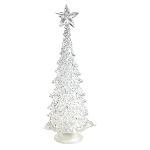 Acrylic Christmas Tree with Star LED Light, Multi-Color, 10-Inch
