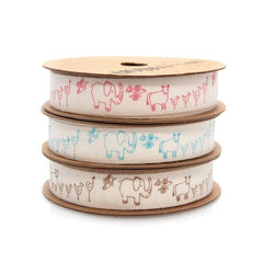 Farm Animals Cotton Ribbon, 5/8-Inch, 10 Yards