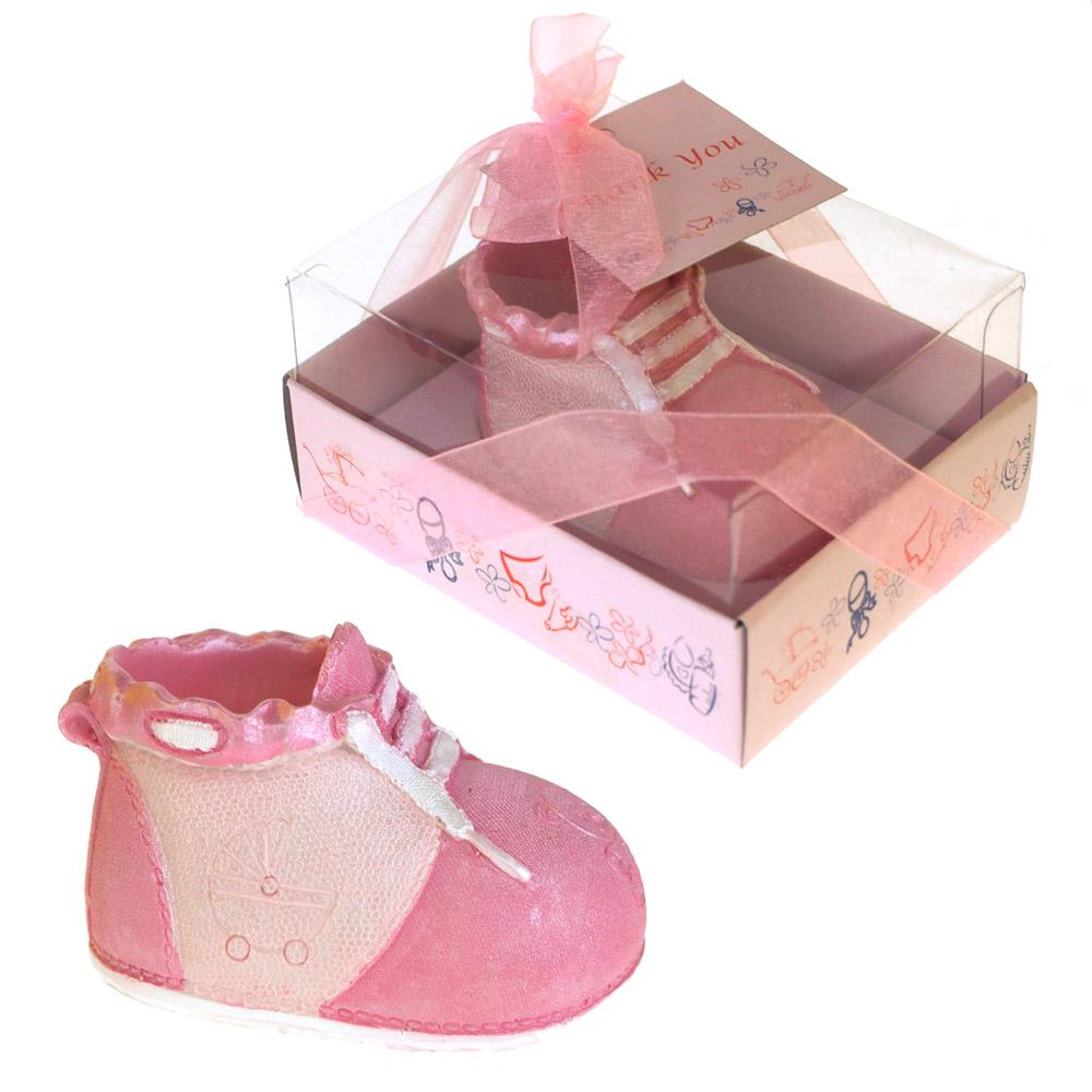 Baby Favors Souvenir, 2-3/4-Inch, Bootie Shoe, Light Pink