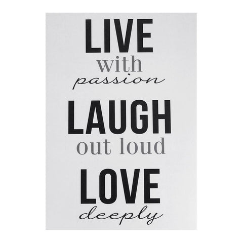 """Live, Laugh, Love"" Quotes Wall Art Sticker, 12-Inch"