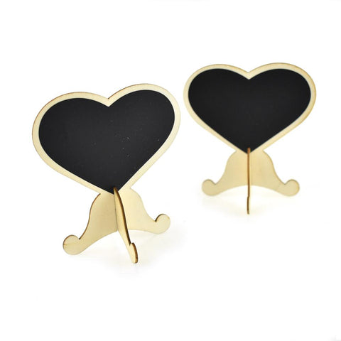 Heart Chalkboard Table Stand, 3-1/2-Inch, 2-Piece