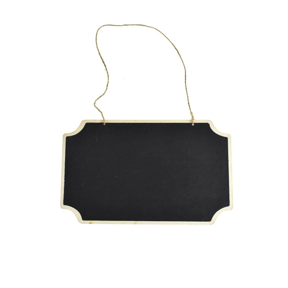 Hanging Chalkboard Sign, Rectangle Cut-Corners, 10-1/4-Inch