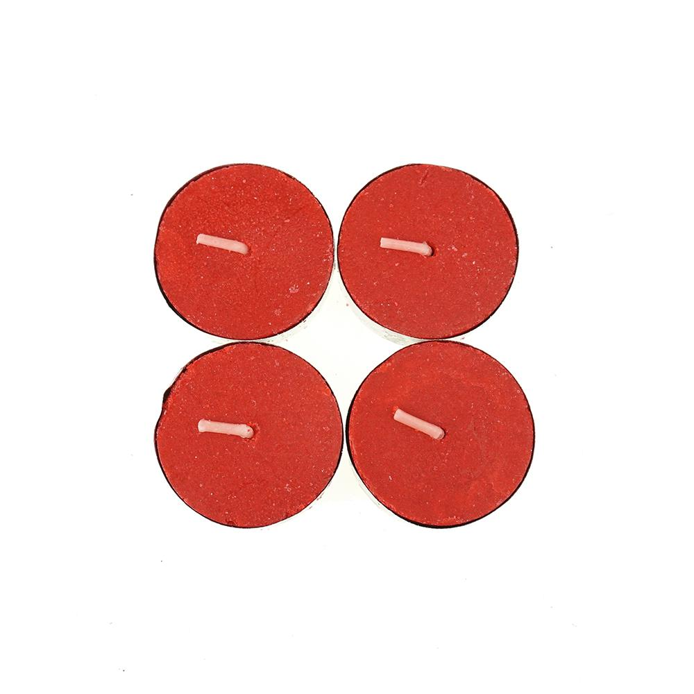 Round Unscented Tea Lights, Red, 1-1/2-Inch, 50-Count