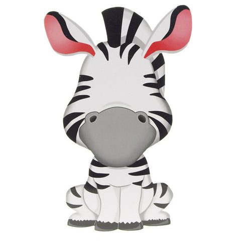 Funny Faces Sticker Set 3D, Zany Zebra