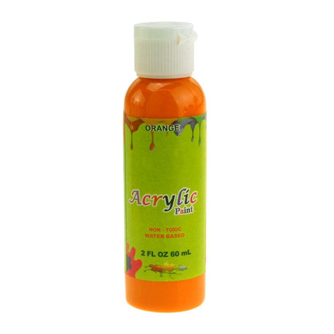 Acrylic Paint Bottle Non-Toxic, 60 mL, Orange