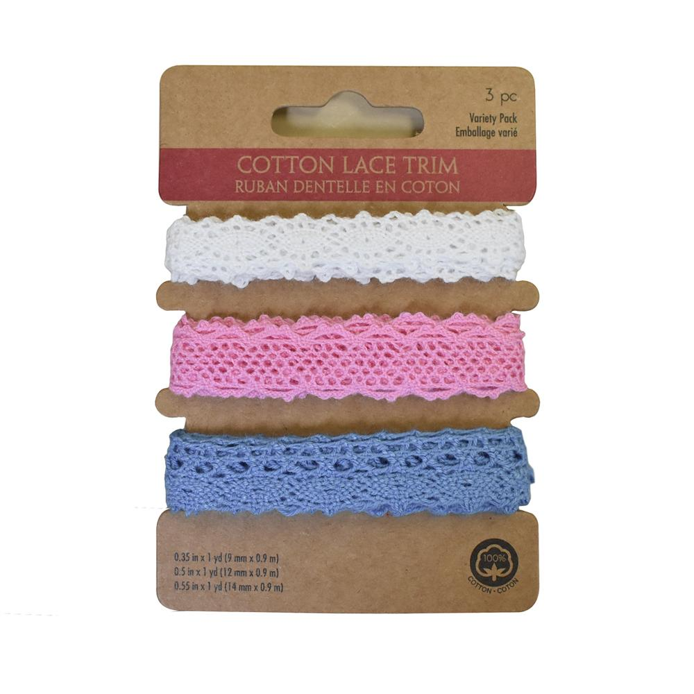 Assorted Cotton Lace Trim, 1-Yard, 3-Piece, Baby