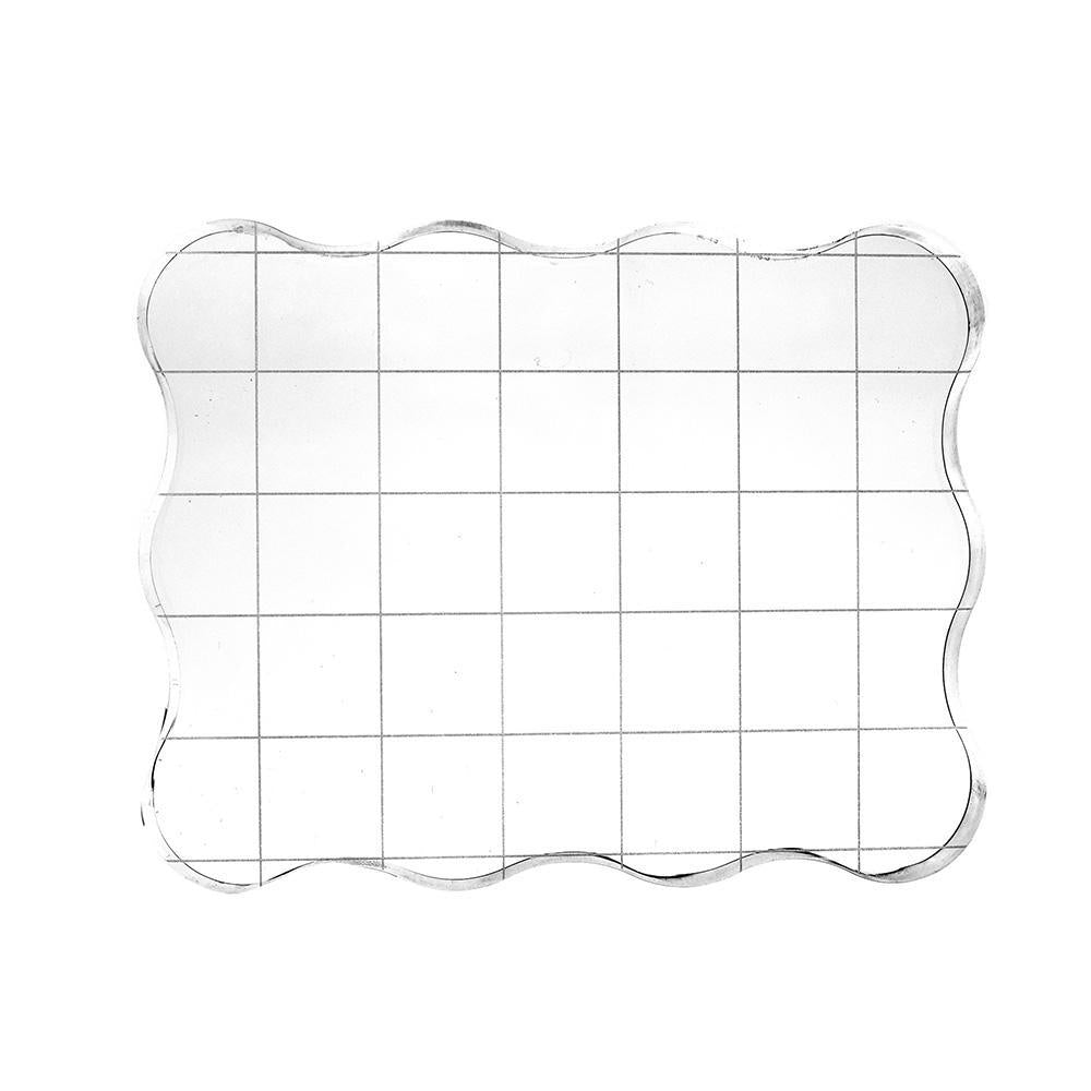 Acrylic Ergonomic Stamp Block Applicator, Clear, 3-5/8-Inch