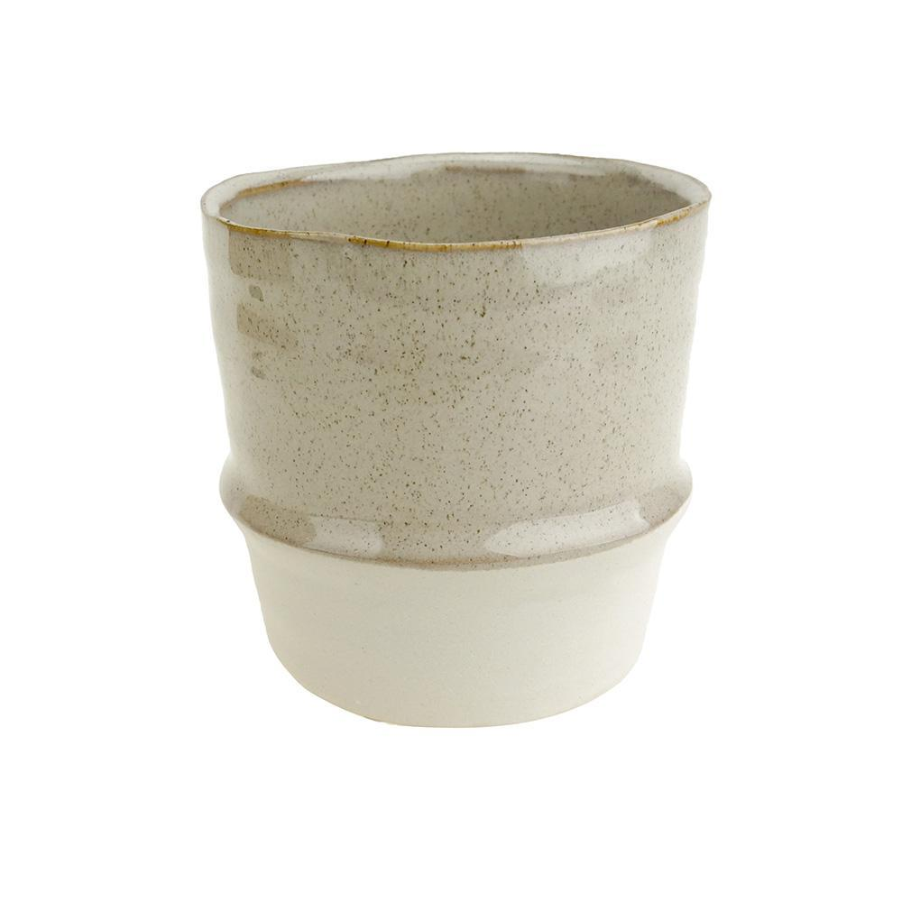 Two Toned Tapered Ceramic Pot, 4-3/4-Inch