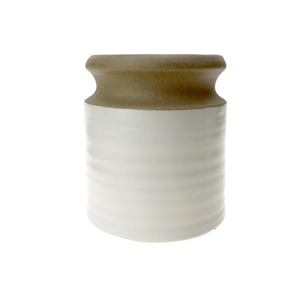 Two Toned Tapered Ceramic Pot, 5-1/4-Inch