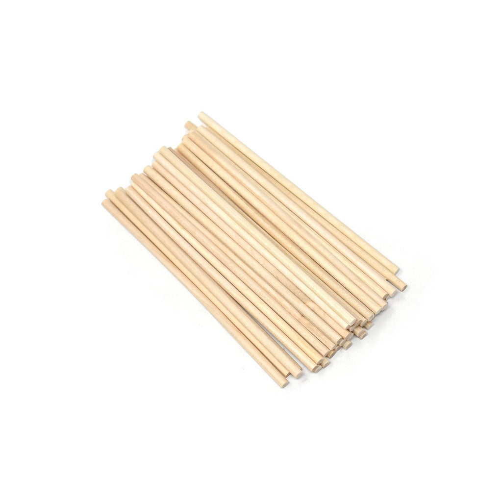 Thin Wood Craft Dowels, Natural, 4-Inch, 100-Count