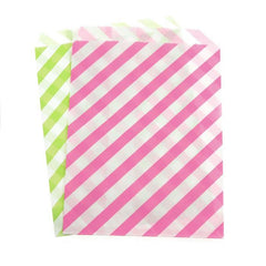 Candy Stripe Paper Treat Bags, 7-inch 25-Piece