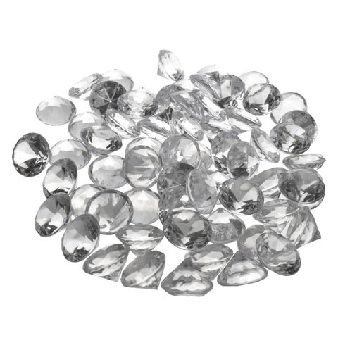 Acrylic Diamond Crystal Table Scatter, 1-3/8-inch, 60-Piece, Clear