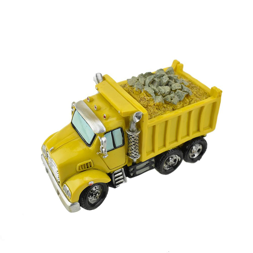 Resin Dumpster Truck Coin Bank, 7-1/2-Inch