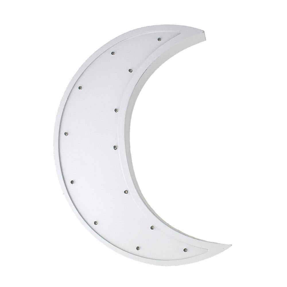 Moon LED Light Up Wall Decor, Gray, 15-Inch