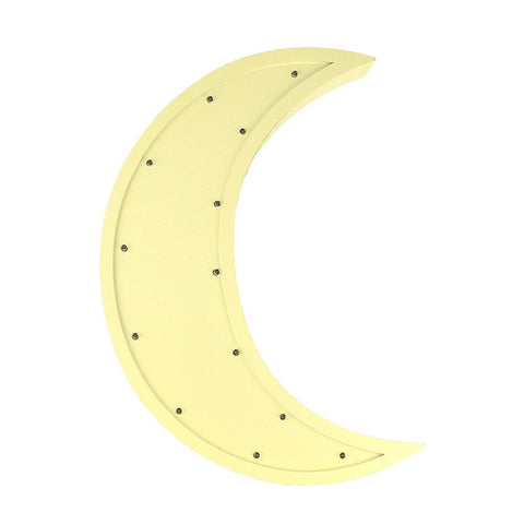 Moon LED Light Up Wall Decor, Yellow, 15-Inch