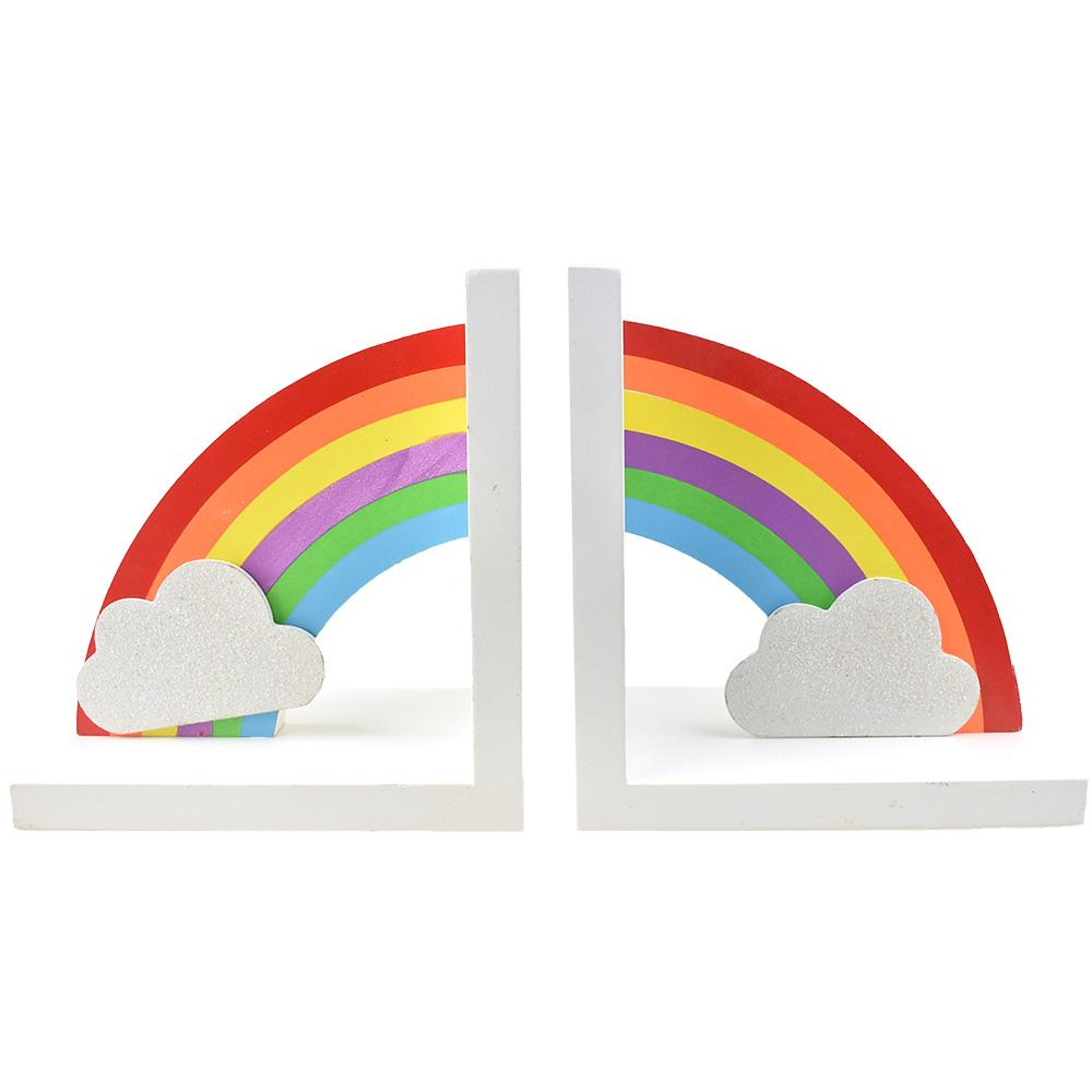 Rainbow Decorative Bookends, 6-3/8-Inch, 2-Piece