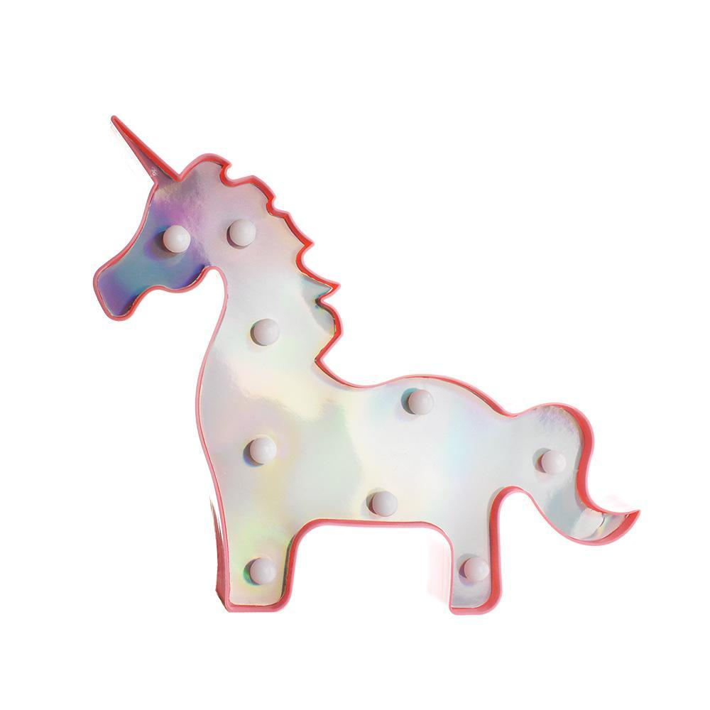 Holographic Unicorn LED Light Up Wall Decor, 13-Inch