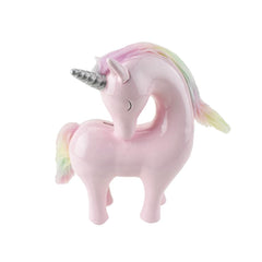 Ceramic Unicorn With Rainbow Hair Coin Bank, 9-Inch