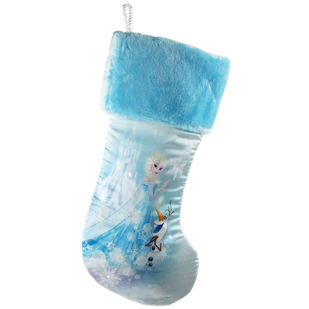 disney frozen elsa lighted christmas stocking 18 inch - Elsa Christmas Decoration
