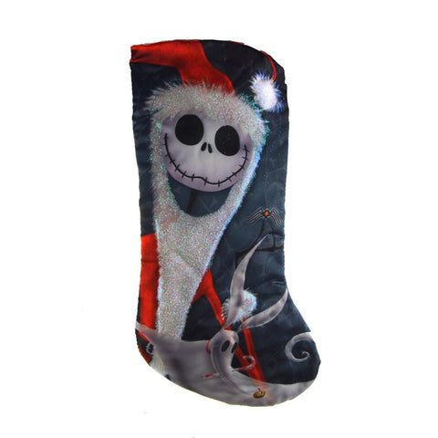 The Night Before Christmas Jack Skellington Satin Christmas Stocking, 19-Inch