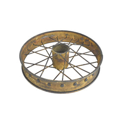 Rusty and Antique Themed Small Bike Wheel, 9-3/4-Inch