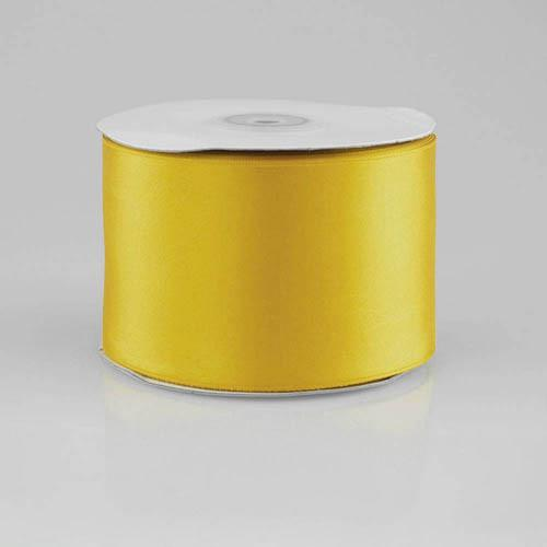 Double Faced Satin Ribbon, 2-1/2-inch, 25-yard, Dark Yellow
