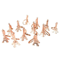 Paris Eiffel Tower Keychain Party Favors, 1-7/8-Inch, 12-Piece