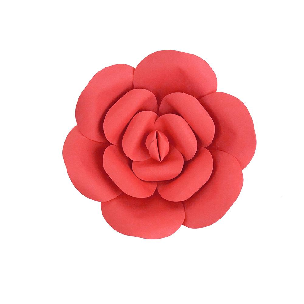 Paper Ranunculus Wall Flower, 7-3/4-Inch, Coral