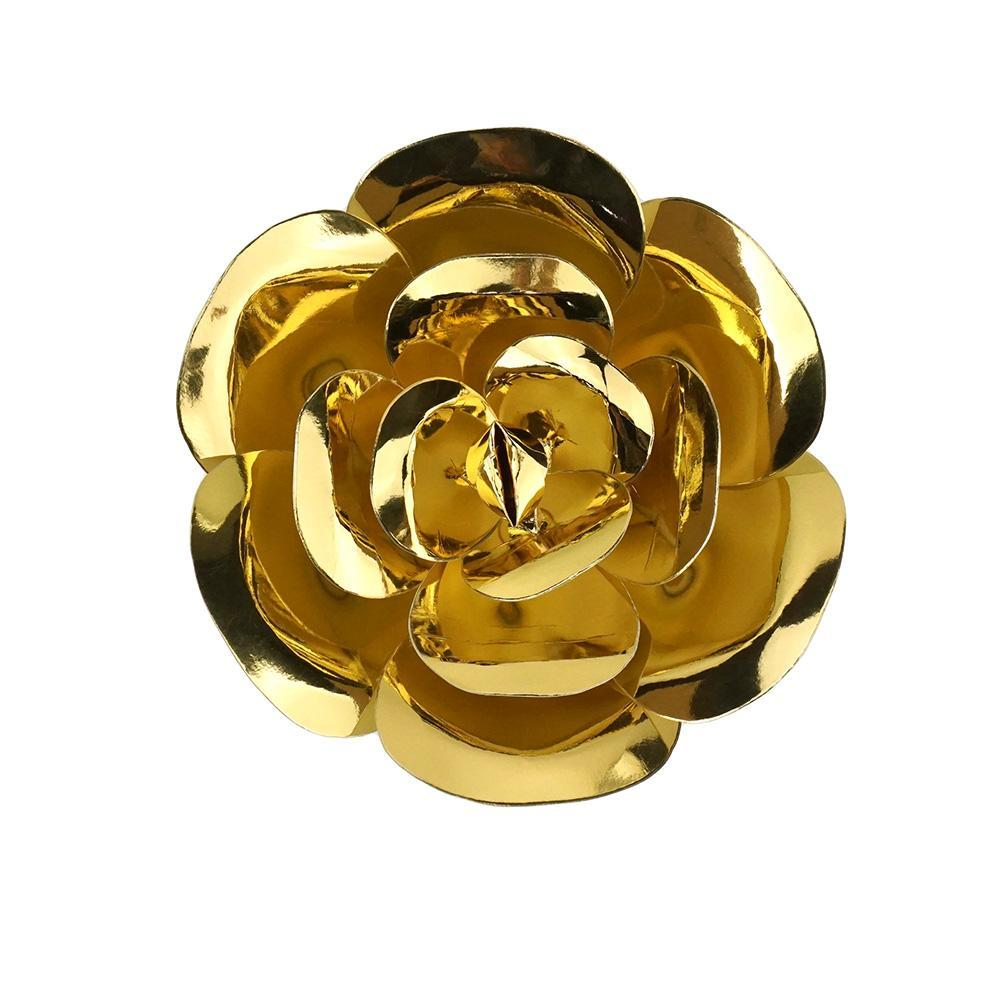 Paper Ranunculus Wall Flower, 7-3/4-Inch, Gold
