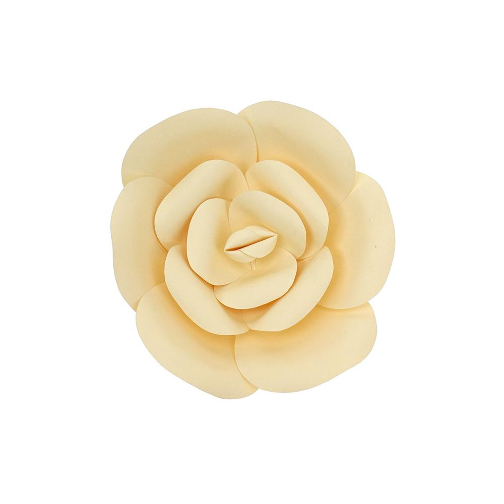 Paper Ranunculus Wall Flower, 7-3/4-Inch, Ivory