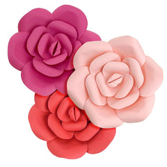 Paper Ranunculus Wall Flower, 7-3/4-Inch