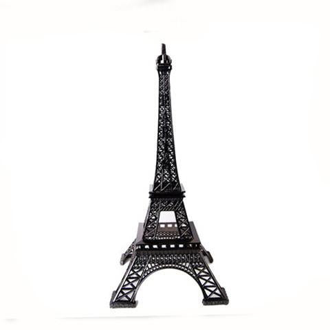 Metal Eiffel Tower Paris France Souvenir, 10-Inch, Black