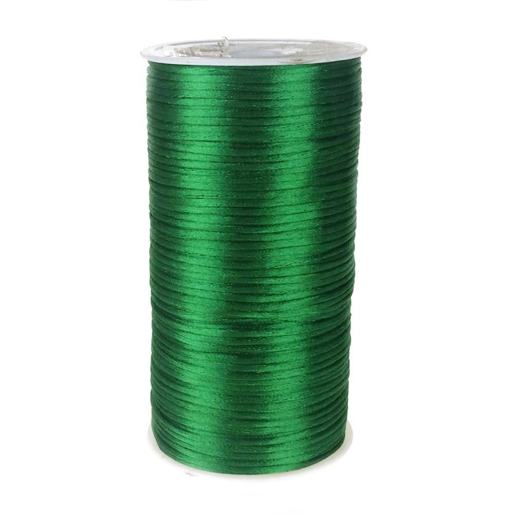 Satin Rattail Cord Chinese Knot, 1/16-Inch, 200 Yards, Emerald Green