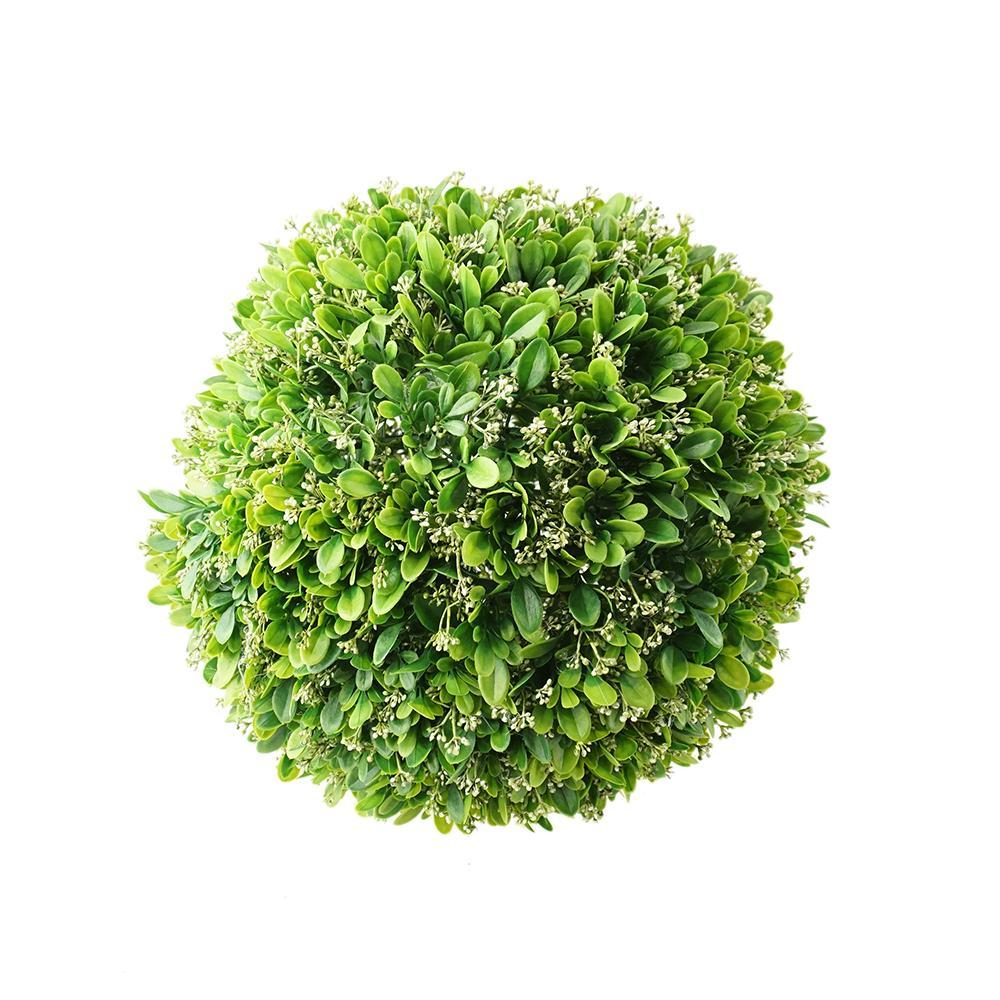 Artificial Plant Grass Ball Wedding Decor, Green, 16-1/2-Inch