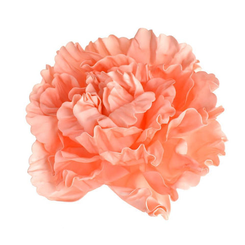 Large Scrunched Foam Wall Flowers, 19-Inch, Coral Peach