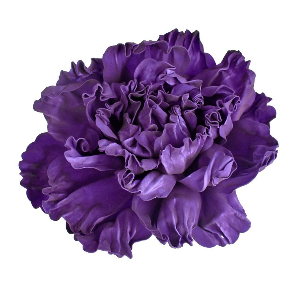 Large Scrunched Foam Wall Flowers, 19-Inch, Purple