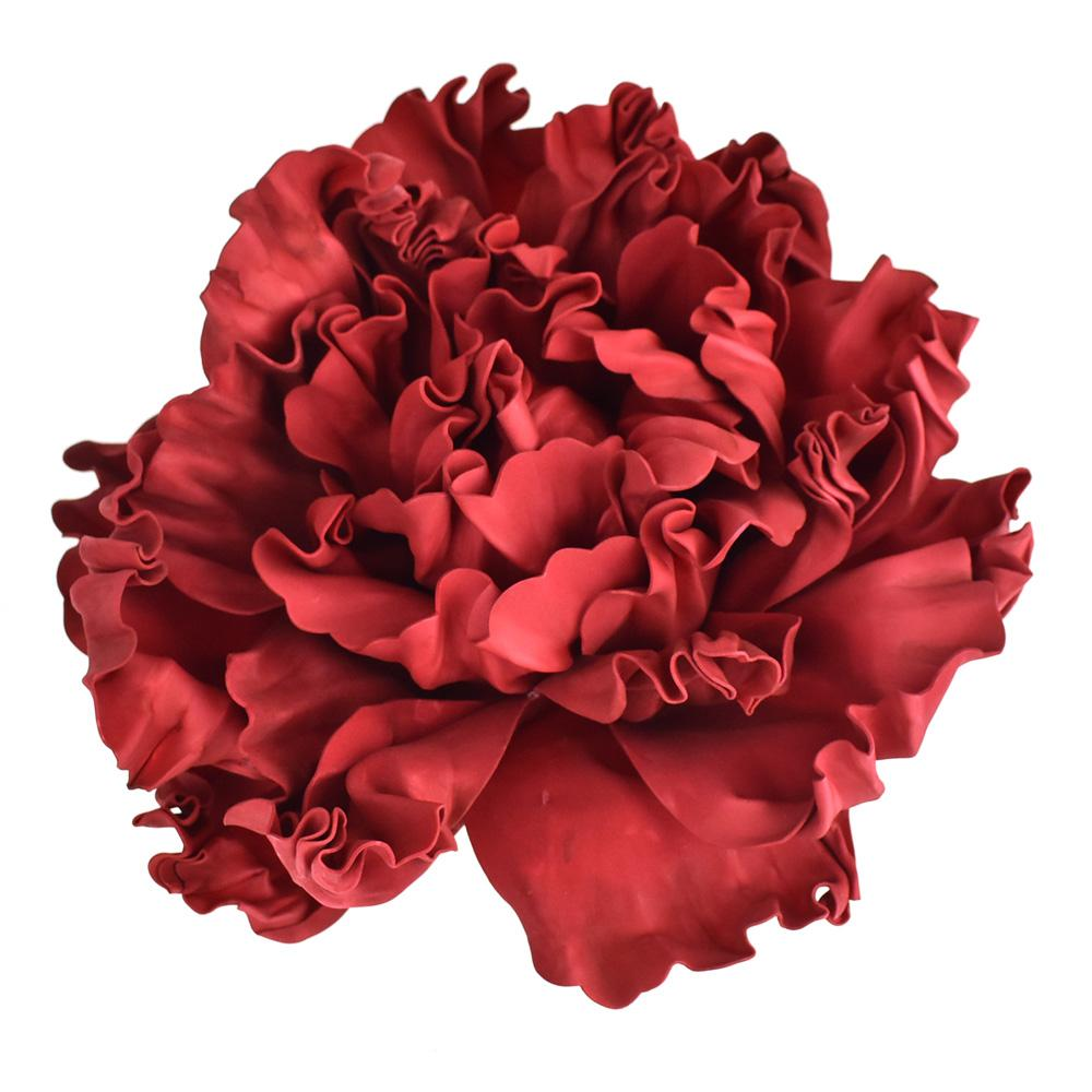 Large Scrunched Foam Wall Flowers, 19-Inch, Red