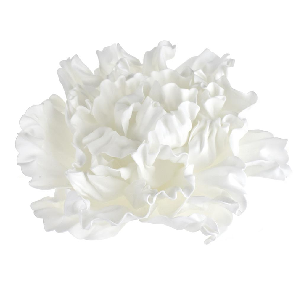 Large Scrunched Foam Wall Flowers, 19-Inch, White