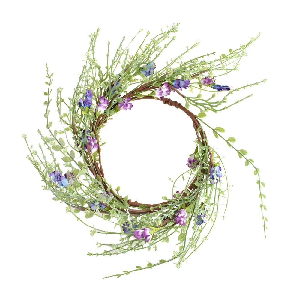 Large Twiggy Artificial Lilac Candle Ring, 6-1/2-Inch