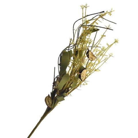 Artificial Dried Cotton Pod Floral Pick, 18-Inch