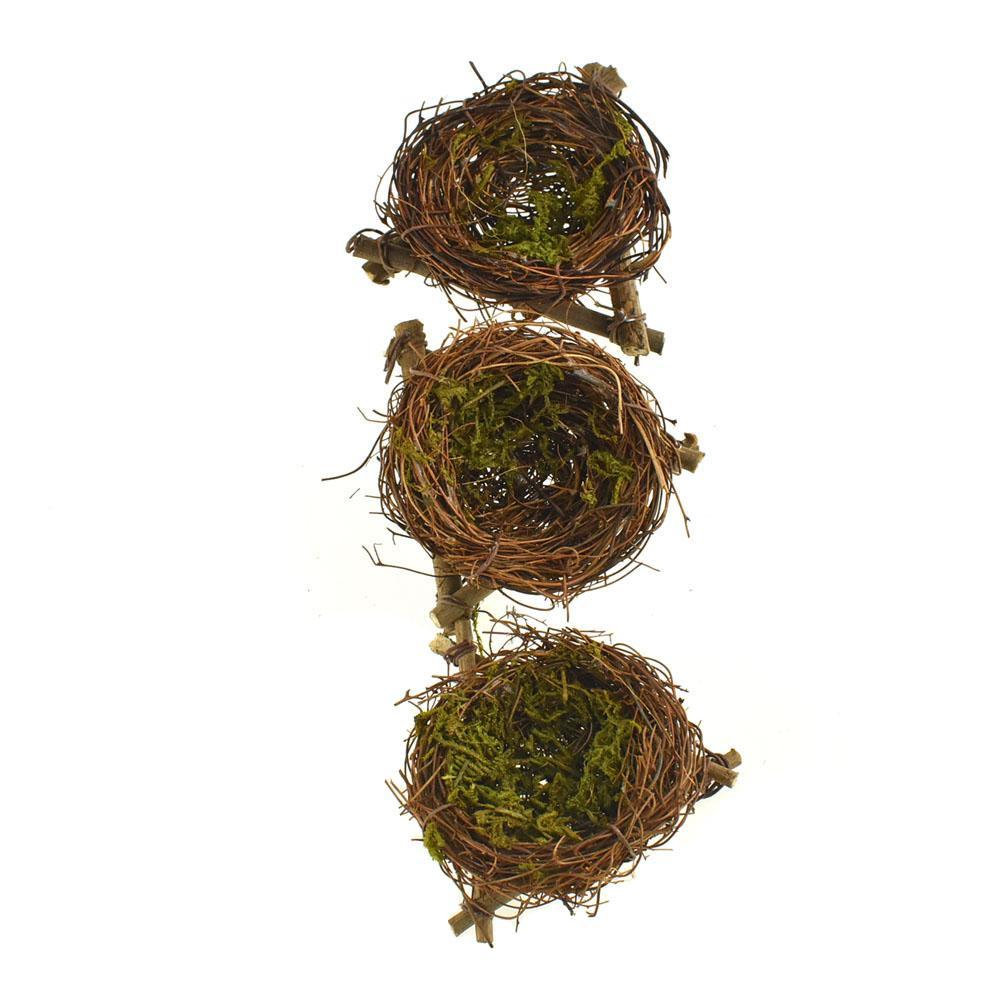 Mini Craft Twig Birds Nests, Brown, 2-1/2-Inch, 3-Piece