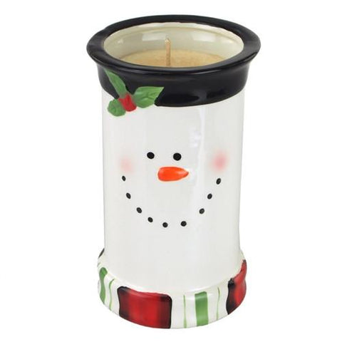 Snowman Ceramic Pot Scented Candle, 6-3/4-Inch