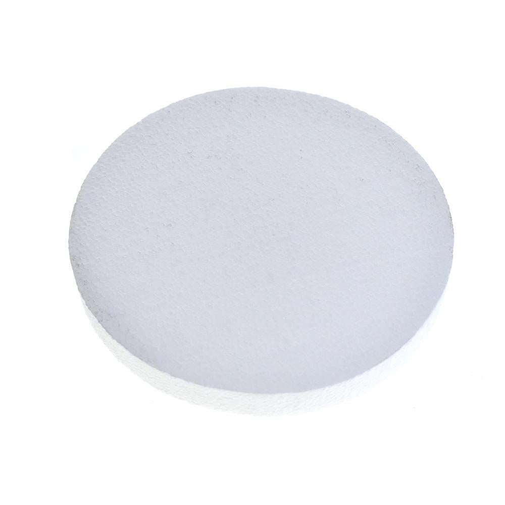 Poly Foam Disk, White, 8-Inch
