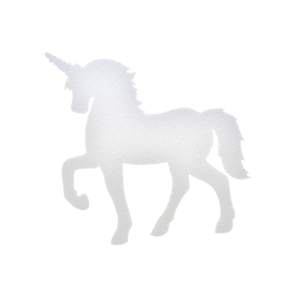 DIY Foam Unicorn Cut-Out, White, 12-Inch