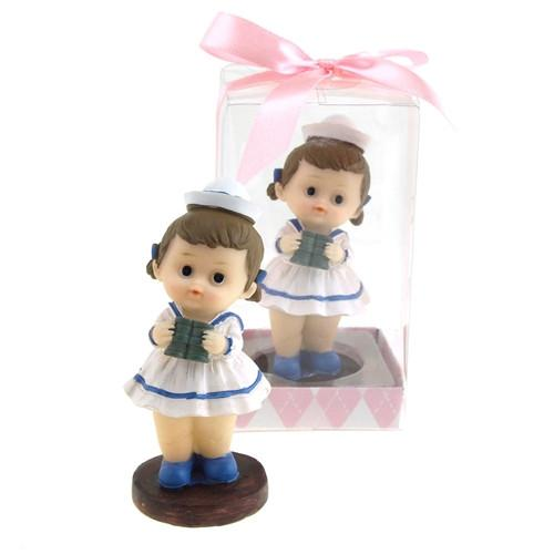 Baby Sailor Outfit Polyresin Favors, 3-1/4-Inch, Light Pink