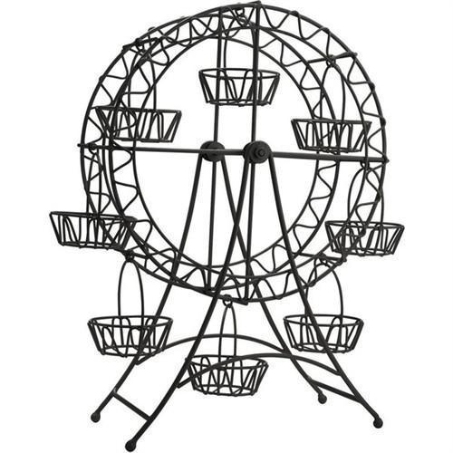 Black Metal Ferris Wheel Cupcake Holder, 8 Cupcakes, 18-1/2-Inch