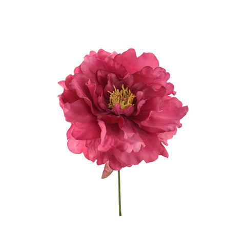 Artificial Peony Pick, Hot Pink, 8-Inch